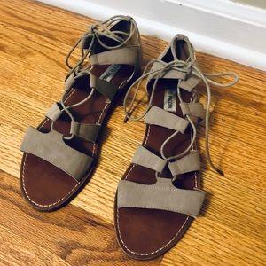 Steve Madden Gladiator Beige Sandals